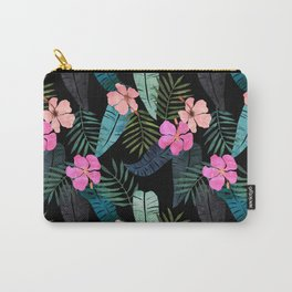 Island Goddess Tropical Black Carry-All Pouch