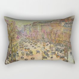 Paris, Boulevard Montmartre, a copy Rectangular Pillow