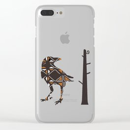 Totemic Crow Clear iPhone Case