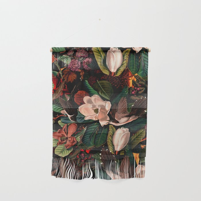 FLORAL AND BIRDS XIV Wall Hanging