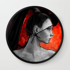 Red Warrior Wall Clock