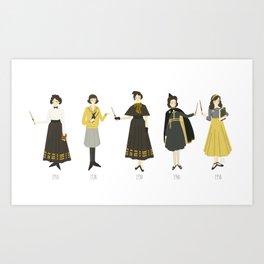 Yellow Uniforms 1910-1950 Art Print