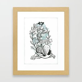 Love is an Anchor Framed Art Print