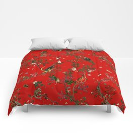 Monkey World Red Comforters