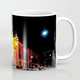 Flinders Street Station at night Coffee Mug