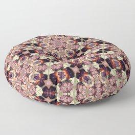 Morning Rose Kaleidoscope Photographic Pattern #2 Floor Pillow