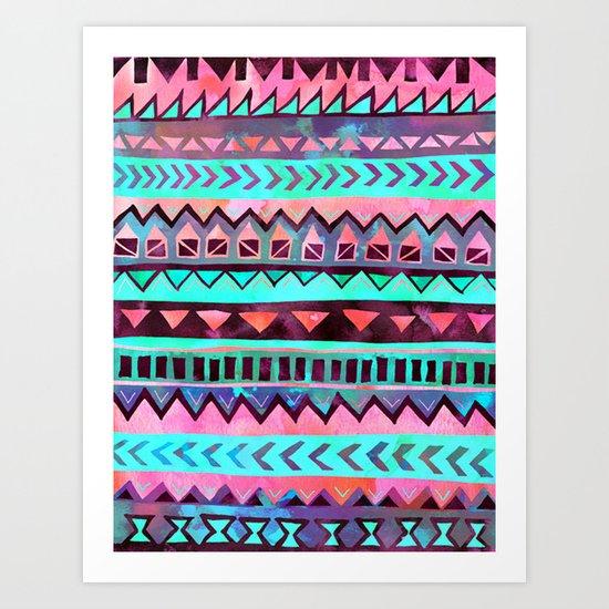 Tribal Pattern 05 Art Print