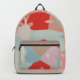 California Pastel Fish Backpack