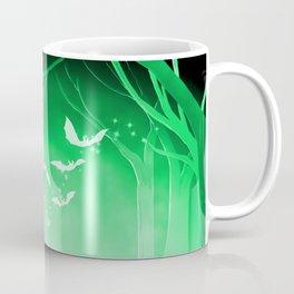 Dark Forest at Dawn in Emerald Coffee Mug