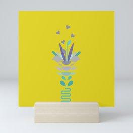 Abstract Flowers Mini Art Print
