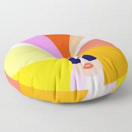 Girl Power - Rainbow Hair #girlpower Floor Pillow