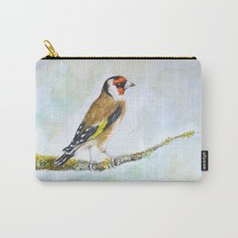 European goldfinch on tree branch Carry-All Pouch