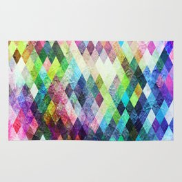 Diamond Bright Painted Design Rug