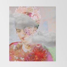 The essence of Frida Throw Blanket