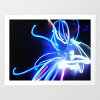 neon Art Prints featuring Neon by Monica Ortel ❖