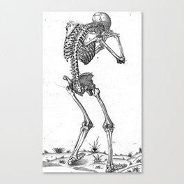 Vintage - Sobbing Skeleton Canvas Print