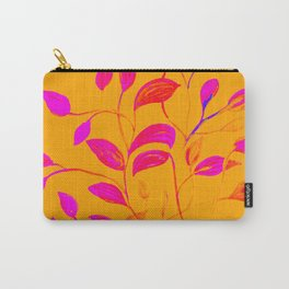 Peaches and Cream Red Leaves Carry-All Pouch