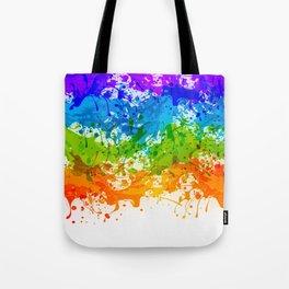Colorful Splashes Tote Bag