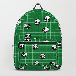 Cute Panda Print on Green Background Backpack