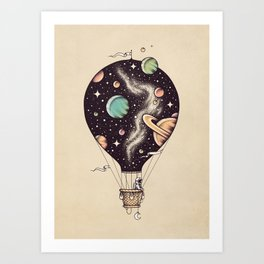 Interstellar Journey Art Print