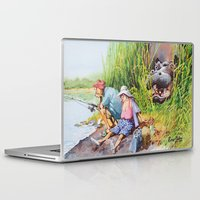 hippo Laptop & iPad Skins featuring hippo! by Rose Rigden