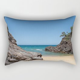 Tropical beach with rock Rectangular Pillow