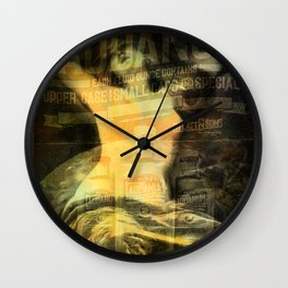 Laudanum, Vintage Advertisement Collage Wall Clock