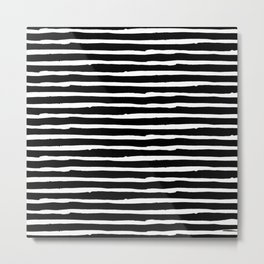 Hand Drawn Stripes Metal Print