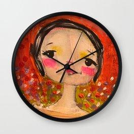 parisian girl Wall Clock