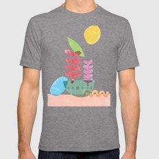 Still Life with Egg & Worm Mens Fitted Tee LARGE Tri-Grey
