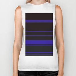 Blue Stripes Biker Tank