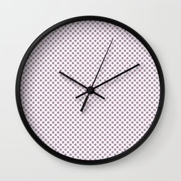 Lavender Herb Polka Dots Wall Clock
