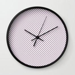 Lavender Herb Polka Dots Wall Clock