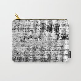 Black and White Painted Texture Carry-All Pouch