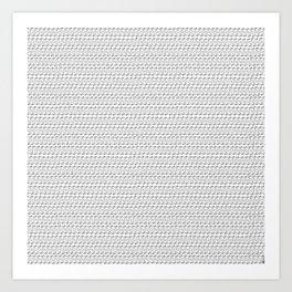 Strawberry Stripes Pattern - Full/Outline Art Print