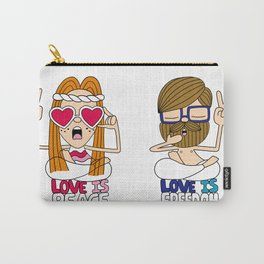 LOVEISPEACE&FREEDOM Carry-All Pouch