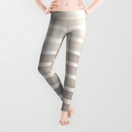 Watercolor Gouache Mid Century Modern Minimalist Colorful Grey Stripes Leggings