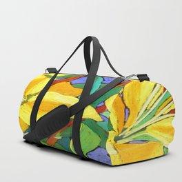 Yellow Lily Duffle Bag