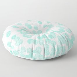 Scattered Glitter Dots in mint, green, pistachio, cool girly cute colors for trendy cell phone case Floor Pillow
