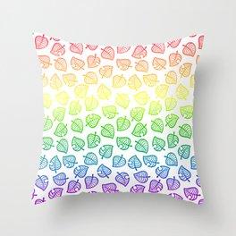 animal crossing villager nook shirt pattern gay pride Throw Pillow