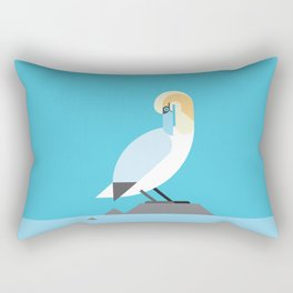 Gannet vector illustration Rectangular Pillow