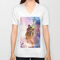 hercules V-neck T-shirts featuring Hercules by nicky2342