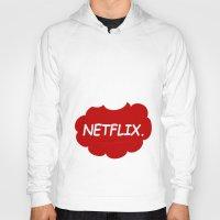 netflix Hoodies featuring Netflix Netflix by Goes4