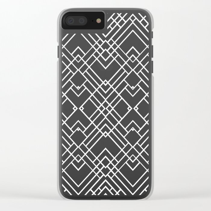Map 1920's Clear iPhone Case