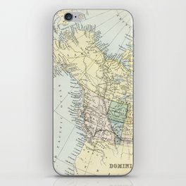 Vintage Map of Canada iPhone Skin