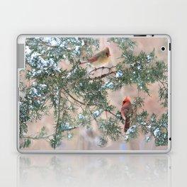 Winter Pair Cardinals (v) Laptop & iPad Skin