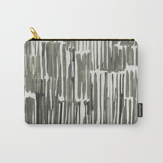 Simply Bamboo Brushstroke Green Tea on Lunar Gray Carry-All Pouch