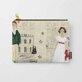 Mr.Darcy of Pemberley and Miss Bennet of Longbourn Carry-All Pouch