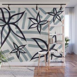 graffiti flowers : stripe Wall Mural