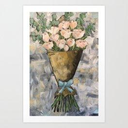Market Roses Art Print